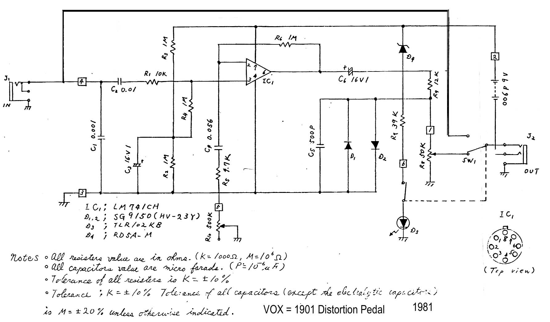 Distortion Booster Circuit Diagram - Simple Wiring Diagram on