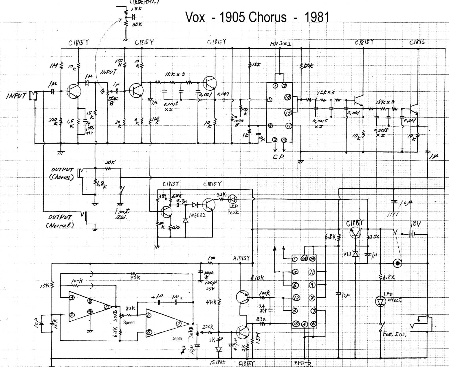 Vox Vintage Circuit Diagrams Together With Overdrive Pedal Schematic On Dc To Ac Diagram Chorus Model 1905 1981 Download