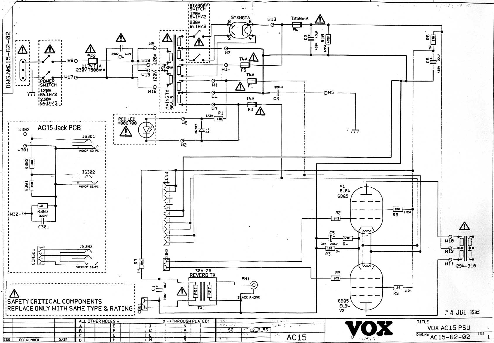 Vox Vintage Circuit Diagrams Further Sound Generator Likewise The Download Diagram
