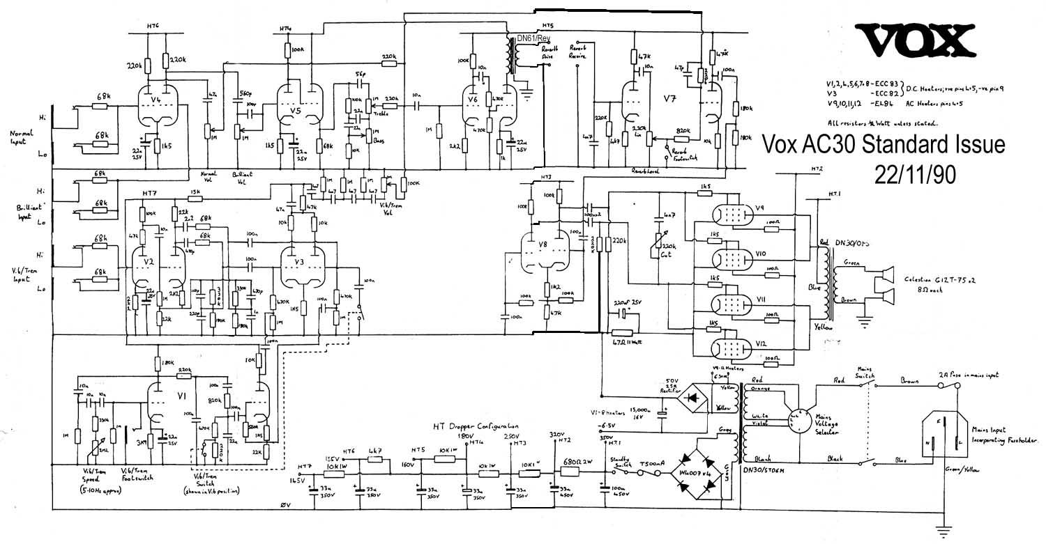 vox vintage circuit diagrams vox wiring diagram #9