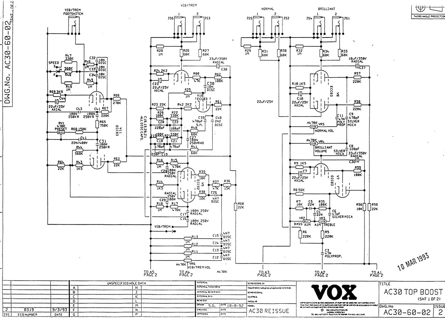 Vox Vintage Circuit Diagrams Ac Led Diagram Download