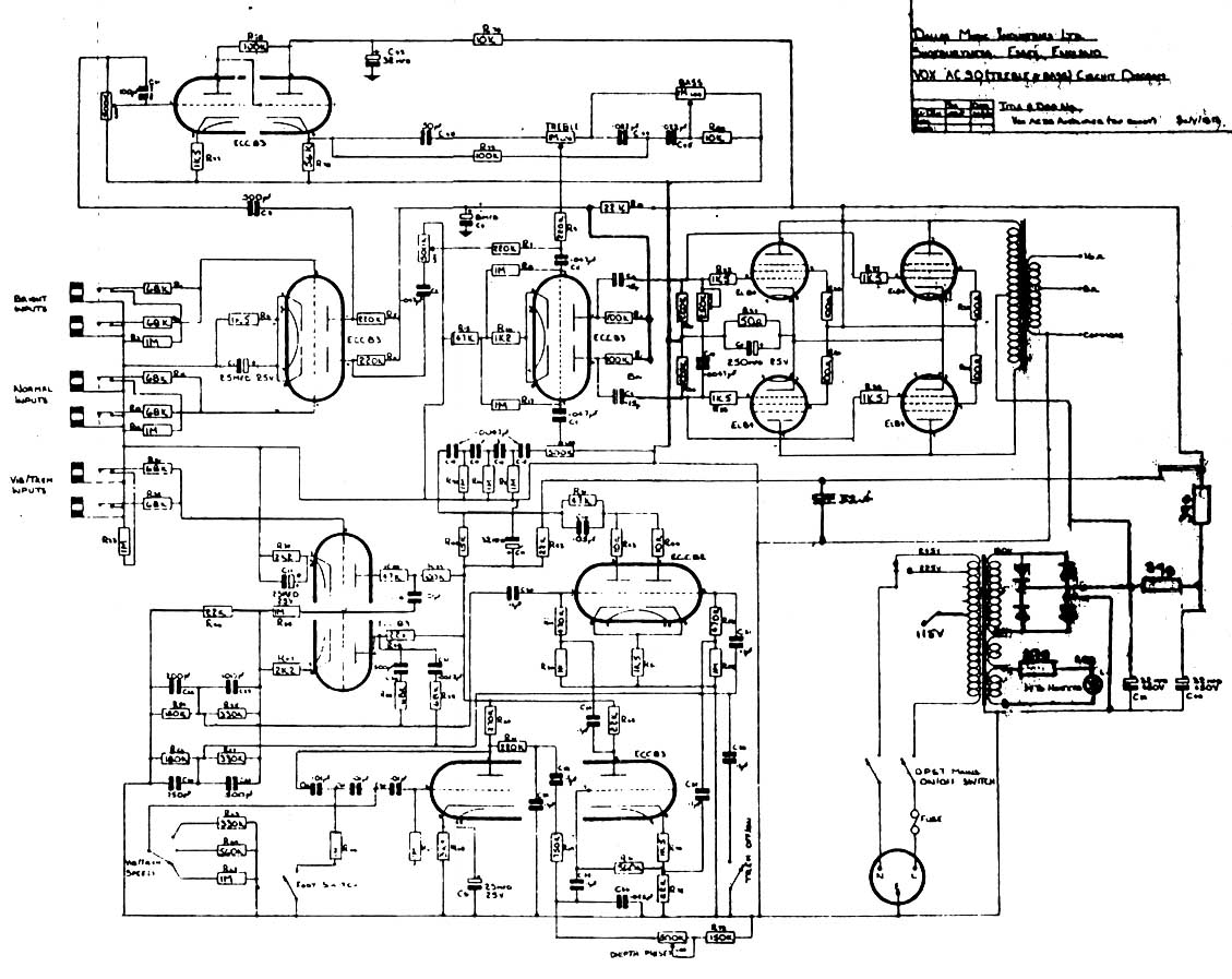 Vox Ac30 Wiring Starting Know About Diagram 2nd Generation Firebird 8 Track Vintage Circuit Diagrams Rh Korguk Com Speaker