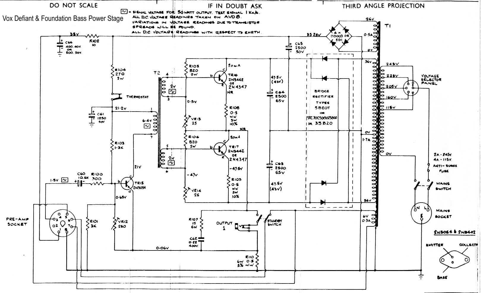 Bass Amp Wiring Diagram Great Installation Of Circuit For Headphone Amplifier From Redcircuits Vox Vintage Diagrams Rh Korguk Com Jazz Guitar