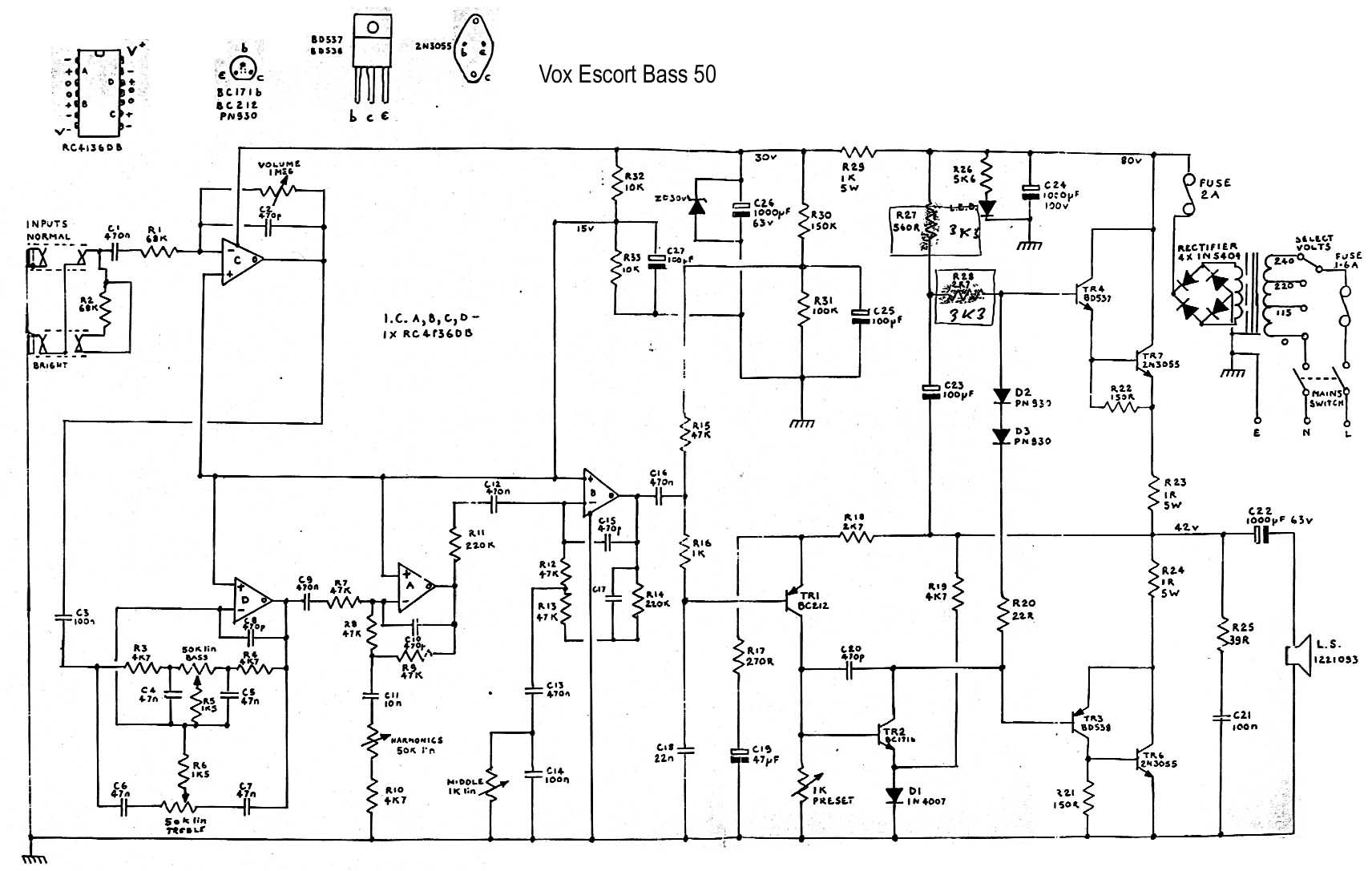 Admirable Ac10 1960 Alternative Circuit Diagram Basic Electronics Wiring Diagram Wiring 101 Capemaxxcnl