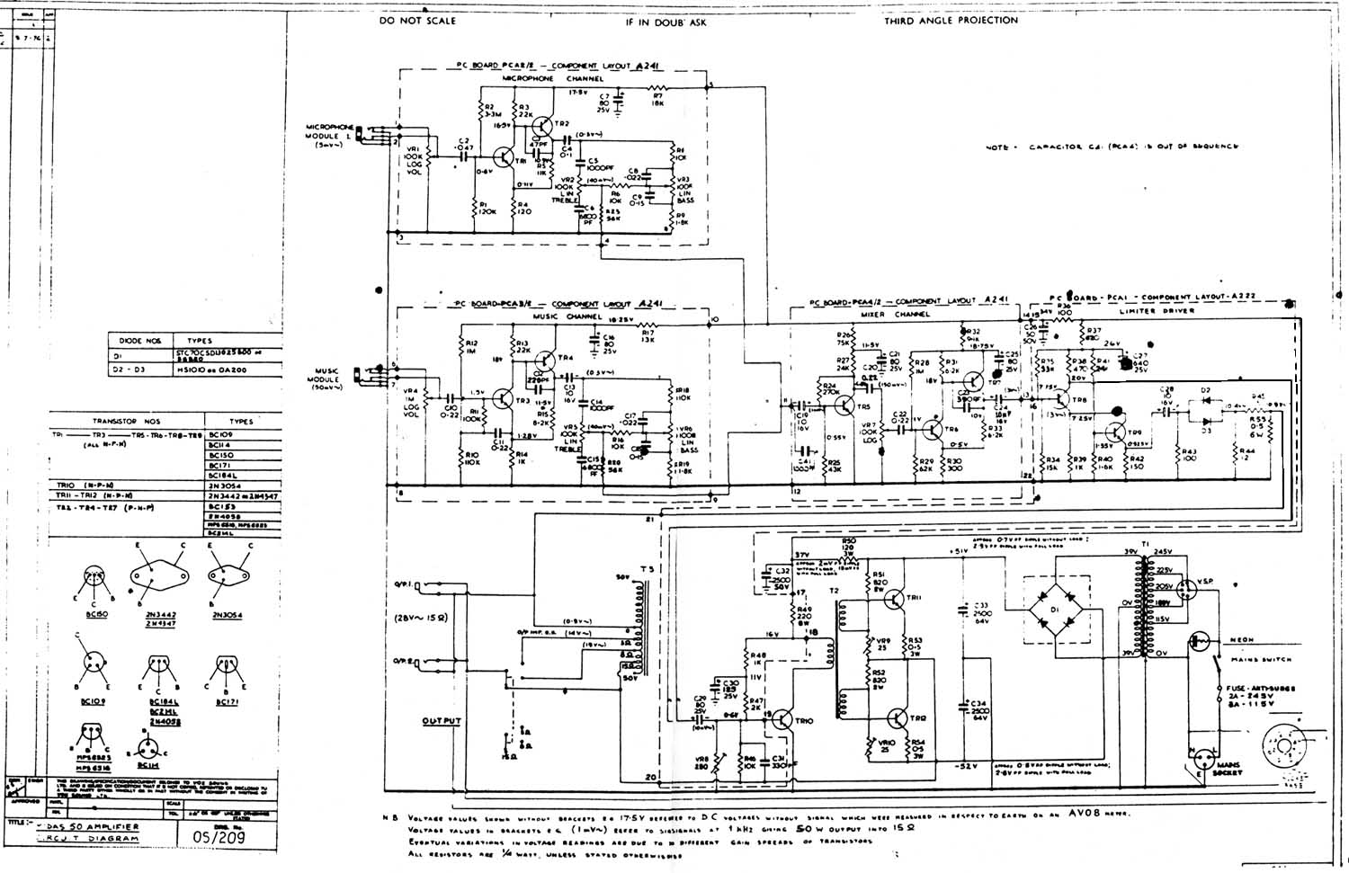 midas50 vox vintage circuit diagrams 3-Way Switch Wiring Diagram for Switch To at n-0.co