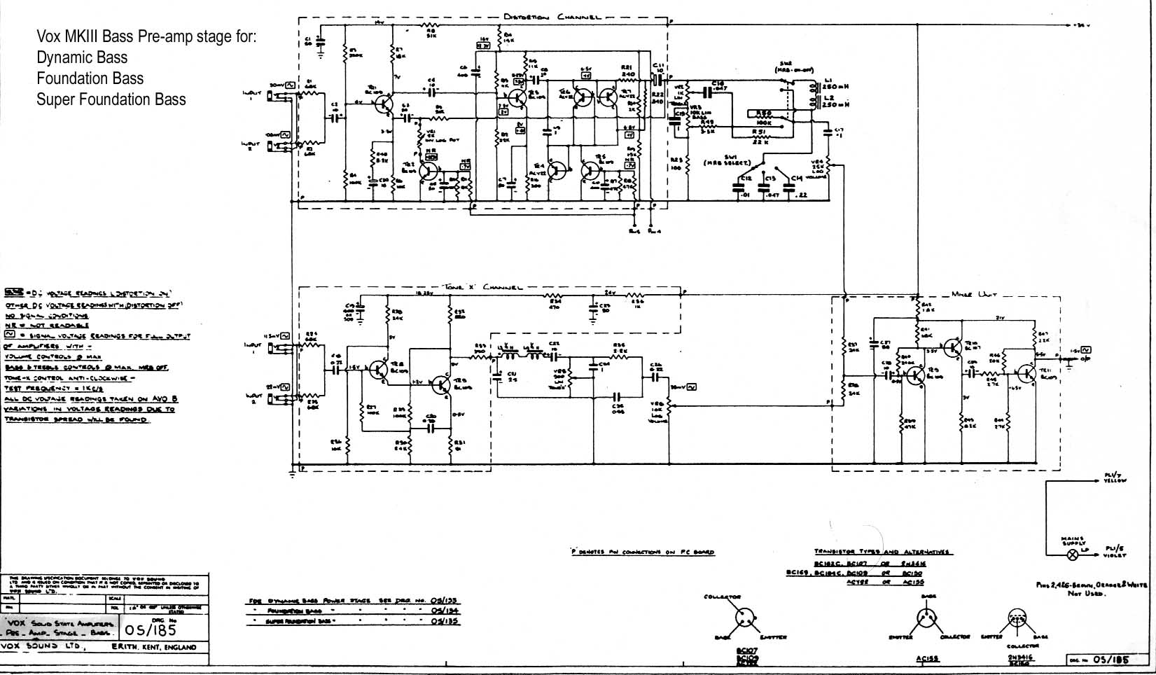 Vox Vintage Circuit Diagrams Schematic Audio Power Amplifier Technology Co Ltd Pre Amp Stage 1969 Download Diagram