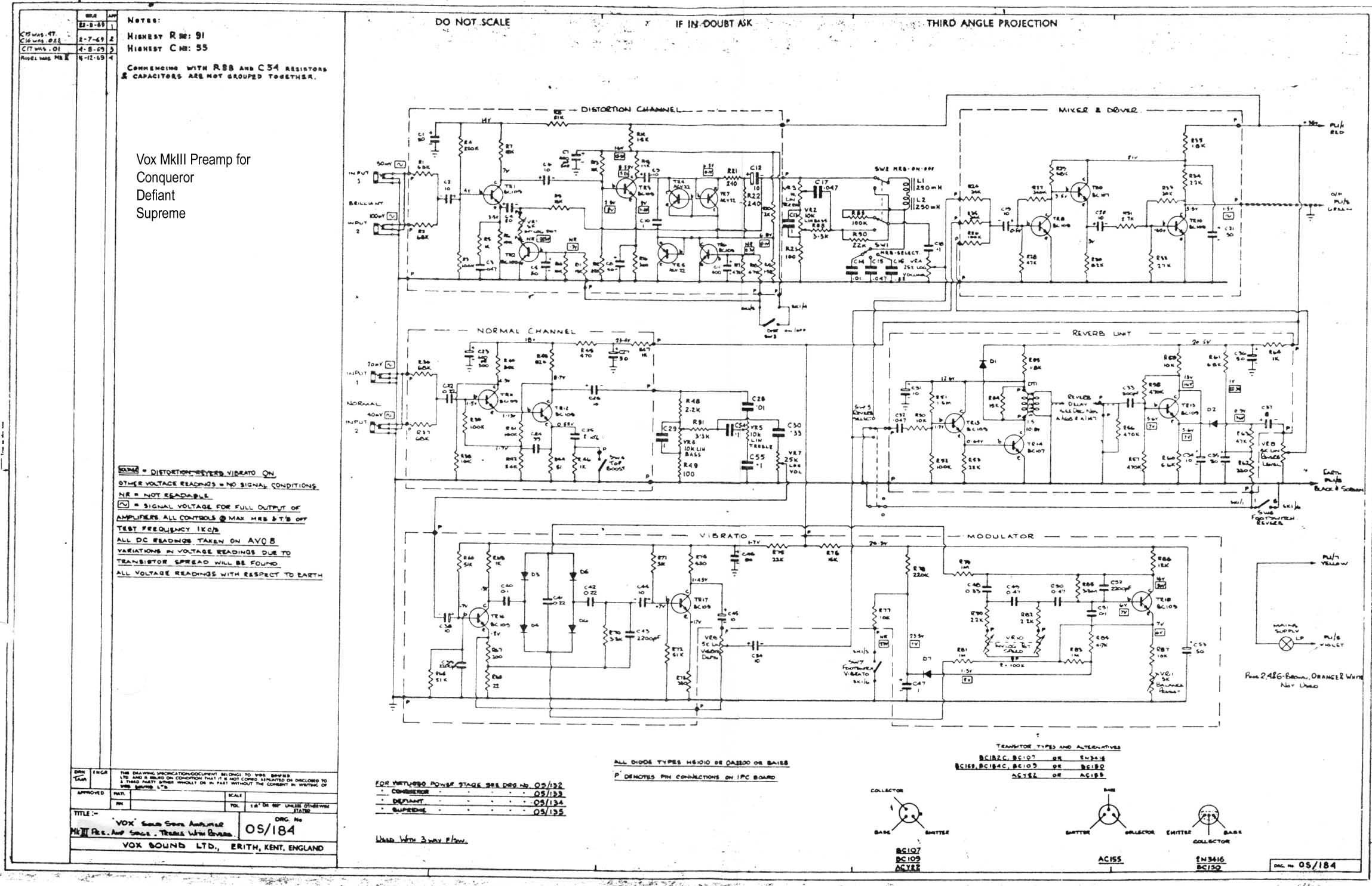 Vox Vintage Circuit Diagrams 50 Watt Transistor Amplifier Download Diagram