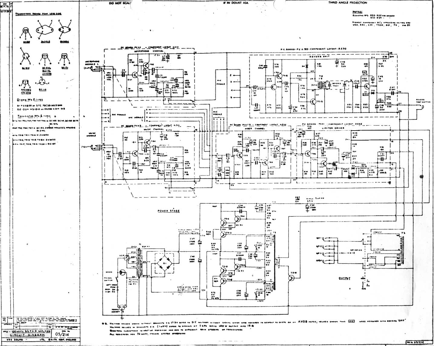 Vox Vintage Circuit Diagrams 240v Stove Wiring Diagram Free Download Schematic