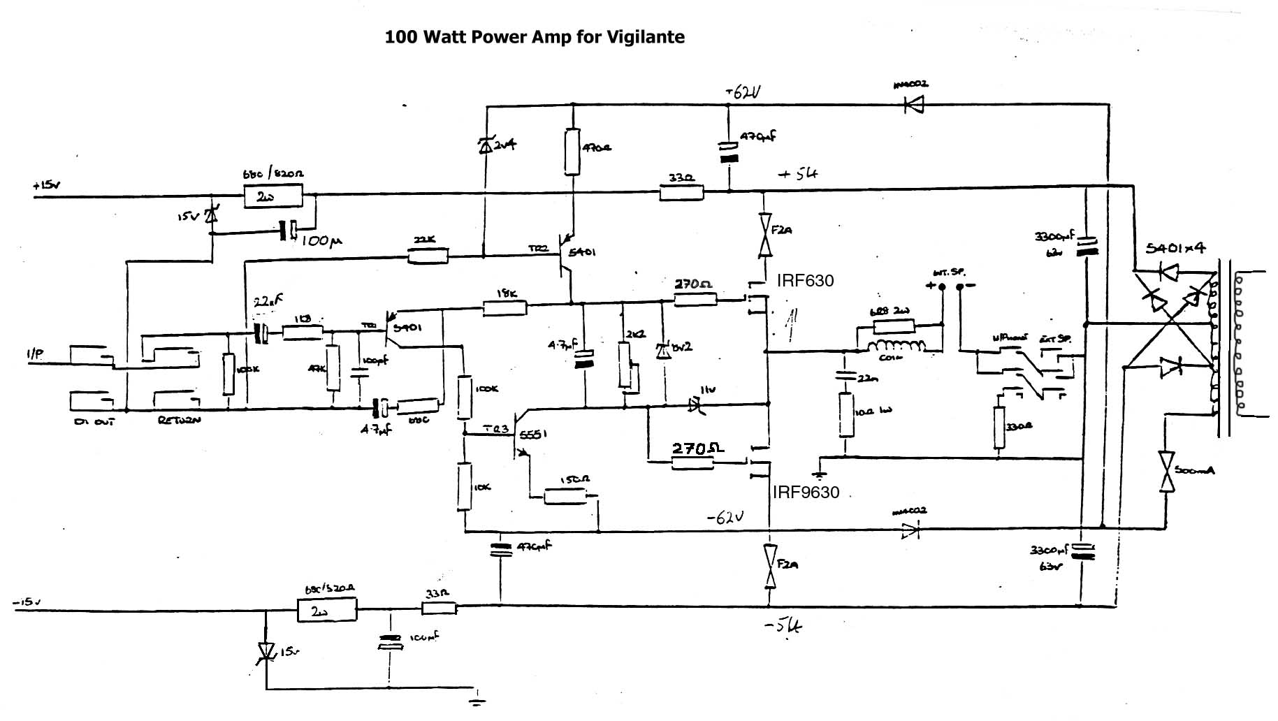 100 Watt Power Amp Schematic Trusted Wiring Diagrams Tda7293audiopoweramplifier100watts Circuit Audio Amplifier Vox Vintage 50