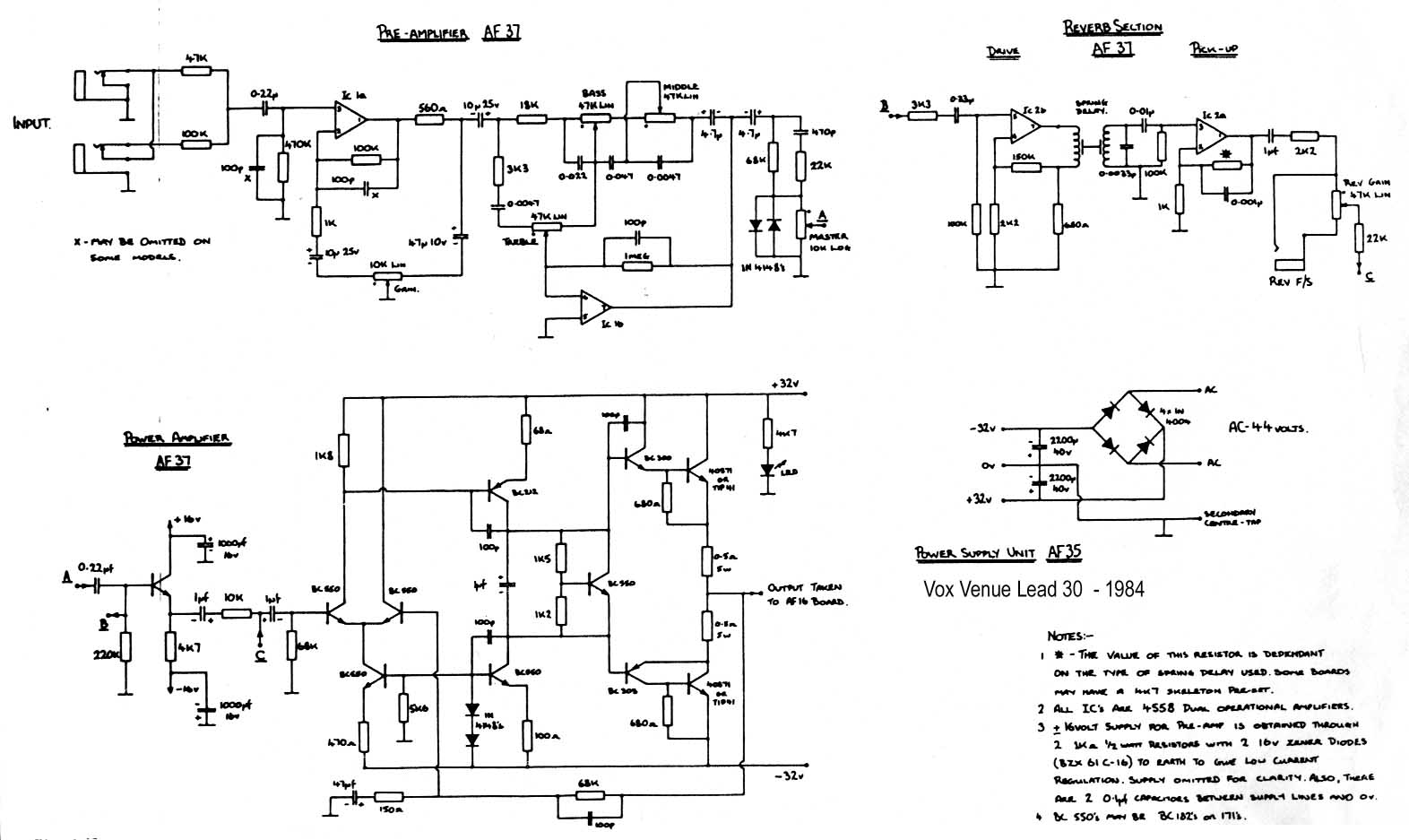 Vox Vintage Circuit Diagrams Guitar Amp Schematics Get Free Image About Wiring Diagram Venue Lead 30 1984 Download