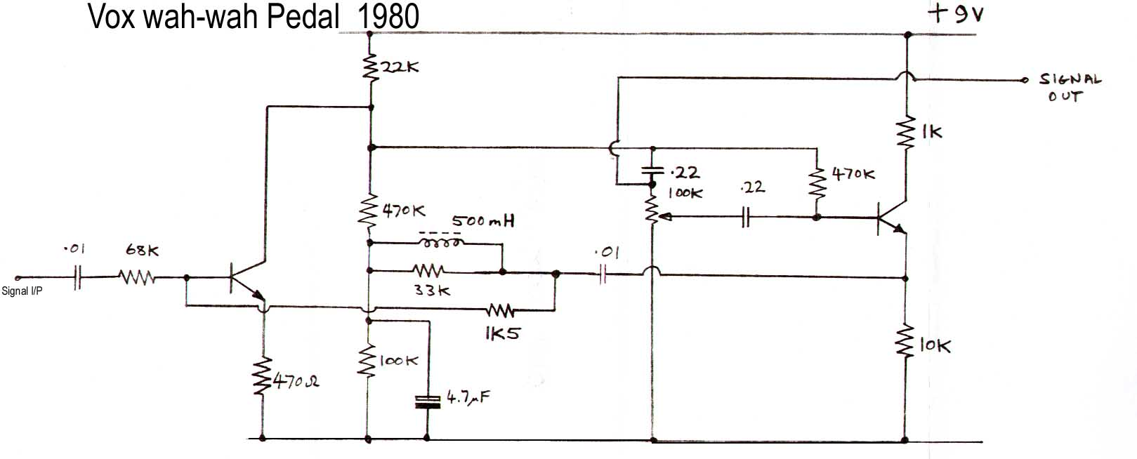 Vox Wah Pedal Wiring Diagram And Schematics 1980
