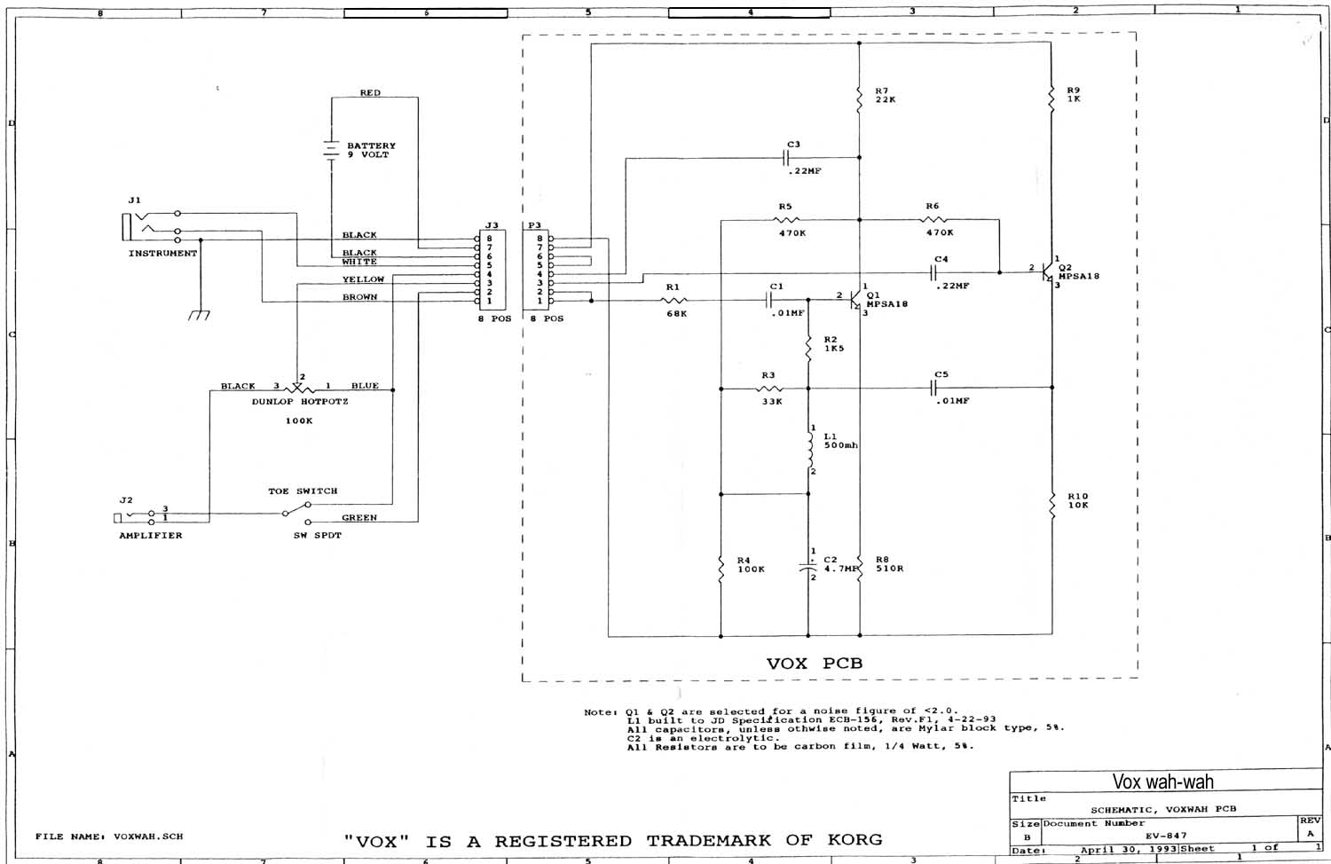 vox vintage circuit diagrams diagram